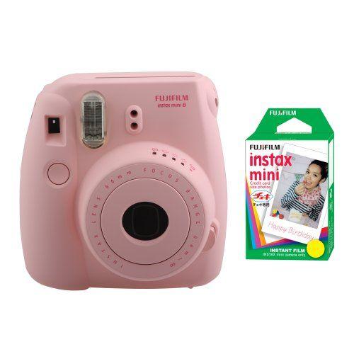 Fujifilm FU64-MIN8PK20 INSTAX MINI 8 Camera and Film Kit for 20 Exposures (Pink)