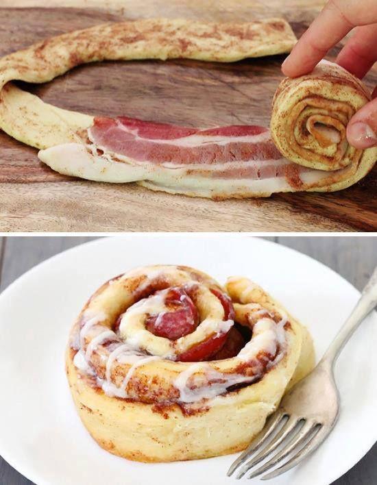 Bacon Cinnamon Rolls  recipe here ==> http://lovecookeat.com/bacon-cinnamon-rolls/