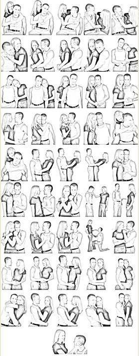 Sesión con pareja guía como sugerencia de poses