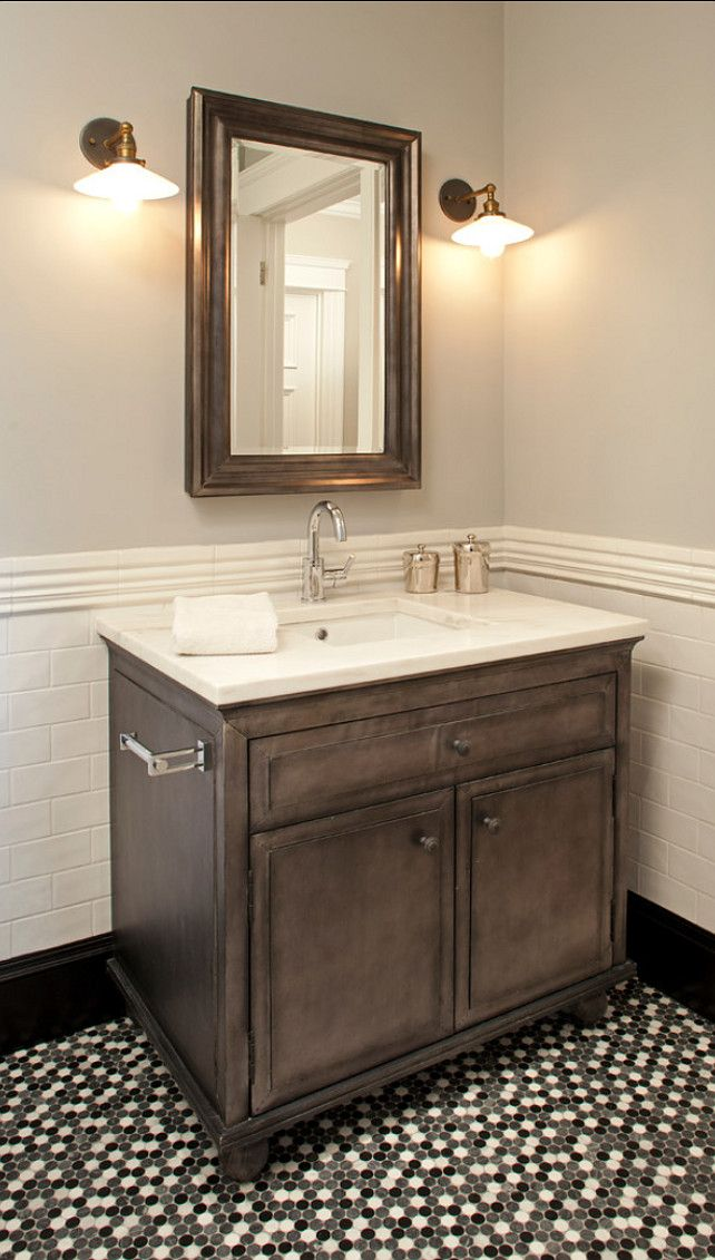 7 best powder room ideas images on pinterest bathroom for Powder room vanity ideas