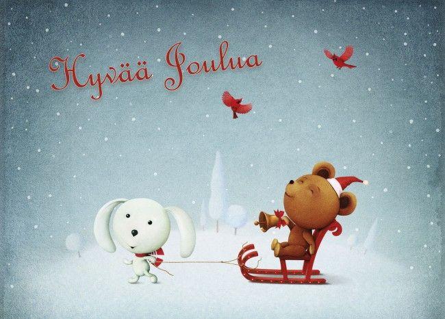 """Anki :: Nro 2 Joulukortti """"Joulun taikaa"""" - Joulu #christmascard #christmas"""