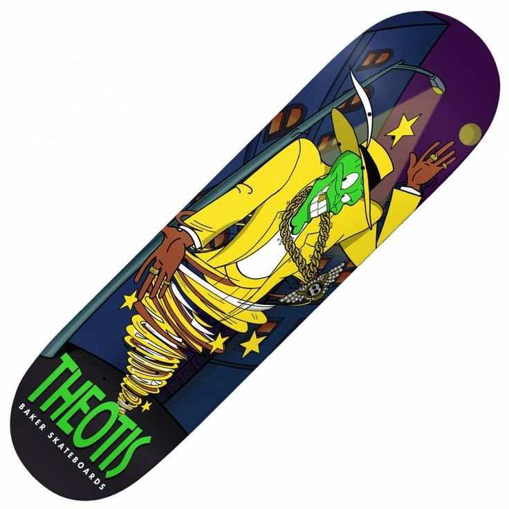 Baker Skateboards Theotis Somebody Stop me Skateboard Deck 8.0""