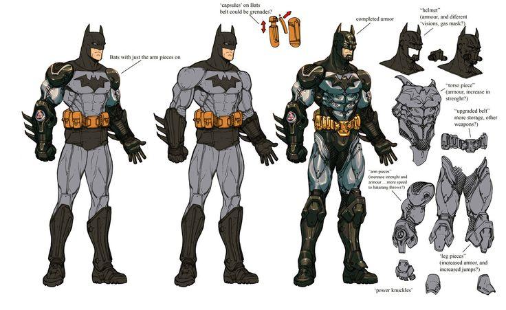 "Batman: Arkham City ""Armored Batman"" concept art"