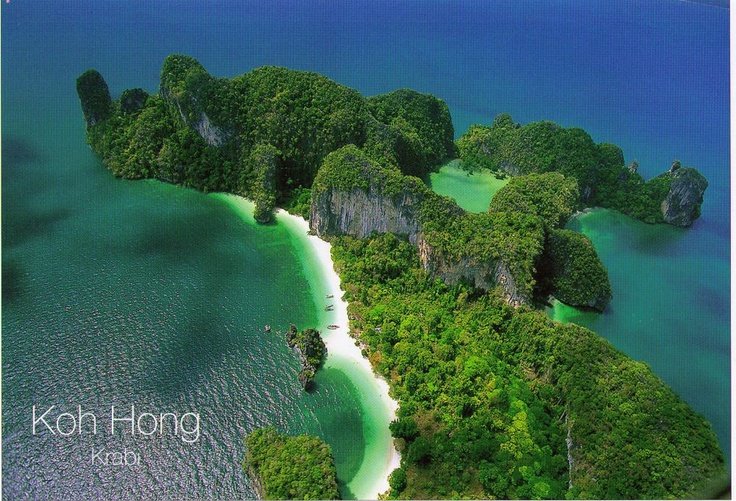 Koh Hong Island, Thailand from above