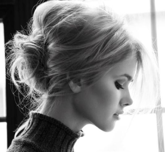 Messy up-do