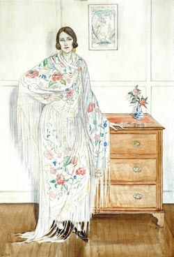 Thea Proctor - The Floral Shawl, c.1923-25