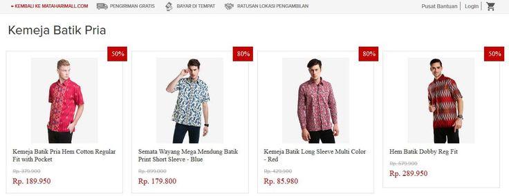 Model dan Motif Kemeja Batik Pria Terbaru