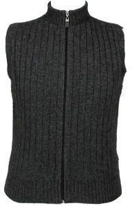 Lothlorian Merino Wool and Possum Fur Rib Zip Vest