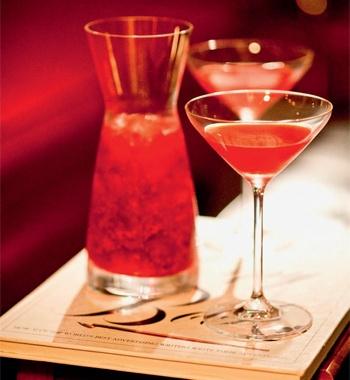 Vodca martini de framboesa com limoncello