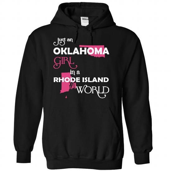(Oklahoma001) Just An Oklahoma Girl In A Rhode_Island W - #oversized tshirt #funny sweatshirt. ADD TO CART => https://www.sunfrog.com/Valentines/-28Oklahoma001-29-Just-An-Oklahoma-Girl-In-A-Rhode-5FIsland-World-Black-Hoodie.html?68278