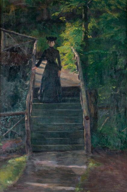 Jacob Kielland Sømme (1862-1940), Anna på broen, Sølyst - 1901