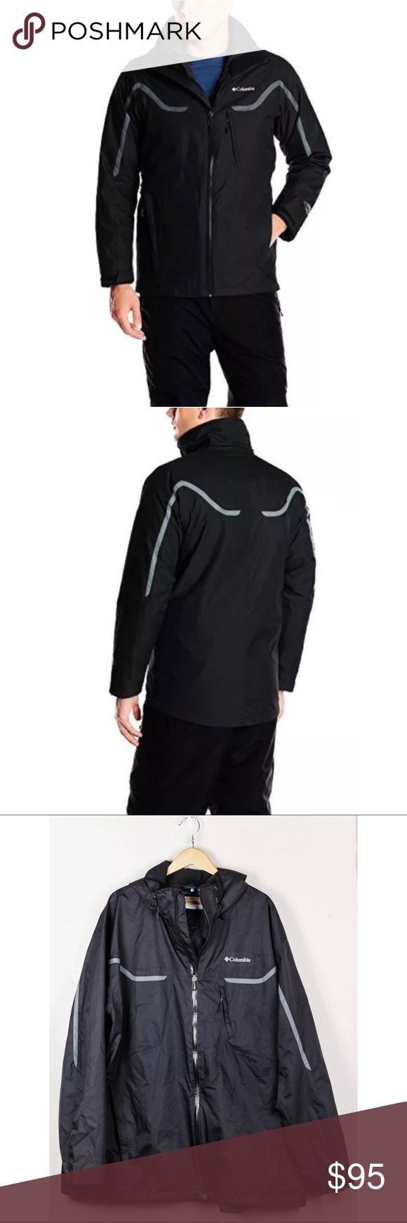 Columbia Black Whirlibird Interchange Ski Jacket Columbia Sportswear Men's Black Whirlibird Interchange Tall Ski Jacket 3XT 3X. Exterior jacket only  Bust: 33 Shoulder: 27 Length: 33.5 Columbia Jackets & Coats Ski & Snowboard