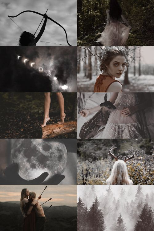 "skcgsra: "" artemis/diana aesthetic (requested) { more here } { request here } """