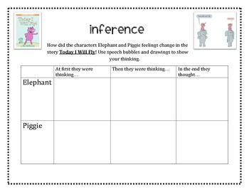 Mo Willems Elephant and Piggie FREEBIE  inferencing