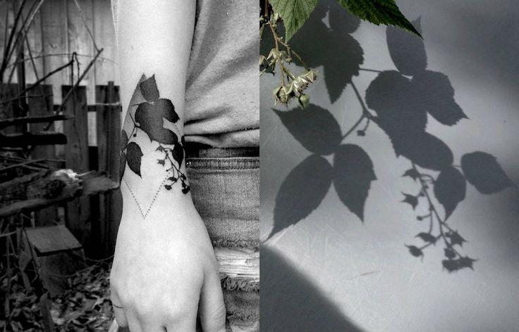 Les tatouages d'ombres de plantes de Tedd Hucks - 2Tout2Rien