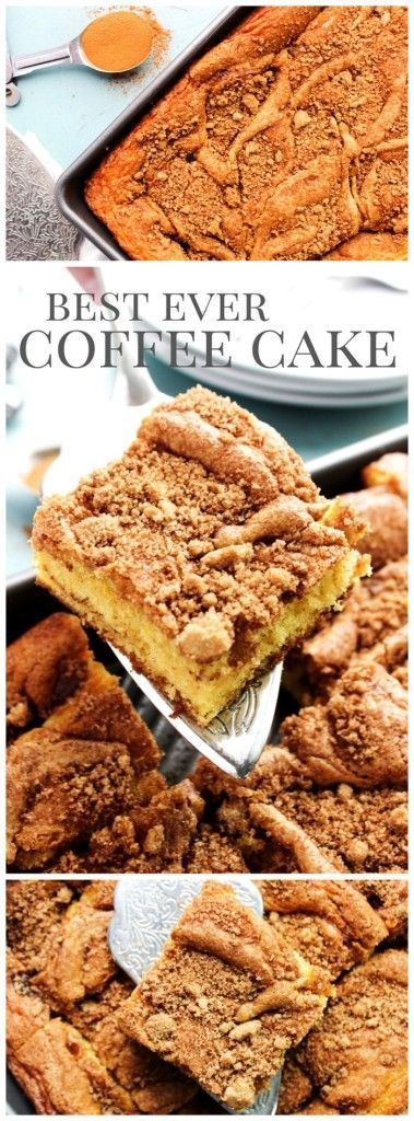 Best Ever Coffee Cake.  Want more coffee cake recipes? How about 88 recipes that use coffee as an ingredient (the trending new spice). Check out http://gmsimms.wix.com/coffeedelight.