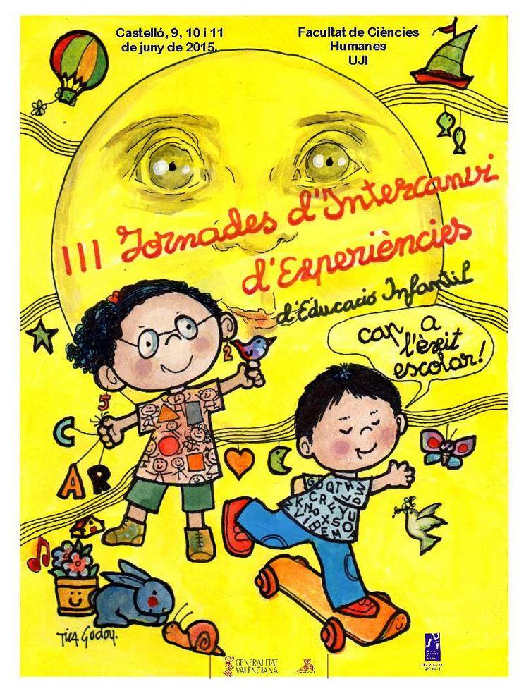Cartell de les jornades Il·lustració de la pintora castellonense Tica Godoy #ExpeEI