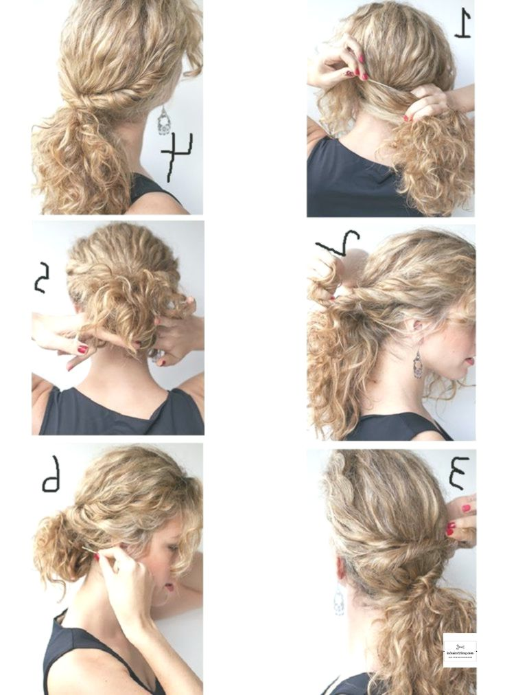 Easy Hairstyles For Curly Hair Step By Step Quick Curly Hairstyles Curly Hair Styles Easy Easy Hair Updos