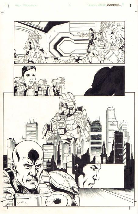 Juan Castro - Original Art Page - HALO : Escalation #3 - Page 8 - Dark Horse / Microsoft - (2015) - W.B.