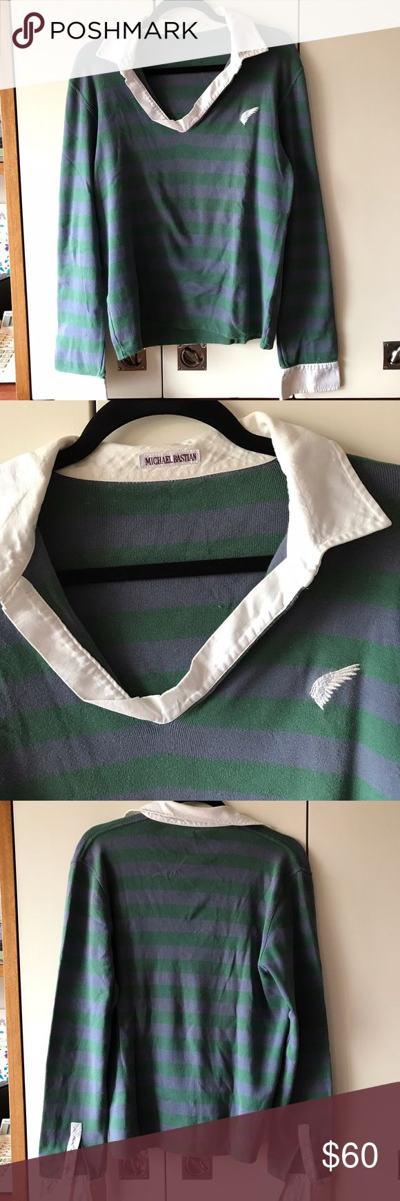 Michael Bastian V-neck long sleeve shirt 100% cotton. Previously worn/ pretty good condition. Size 52-medium Michael Bastian Shirts Tees - Long Sleeve