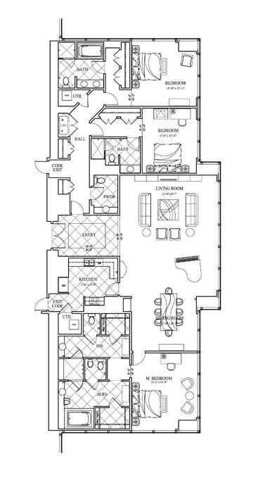 Best 25 Trump Hotel Las Vegas Ideas On Pinterest  Trump Hotel Cool 3 Bedroom Suite Vegas Design Decoration