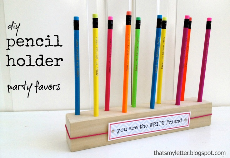 """That's My Letter: """"P"""" is for Pencil Holder Favors, party favors"""