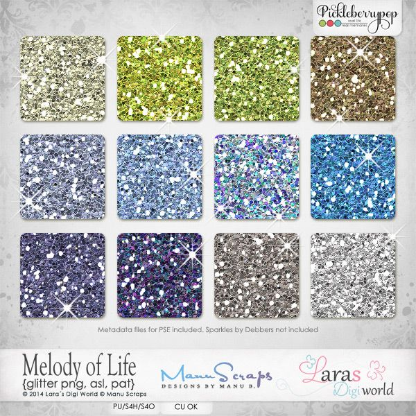 Melody of Life {Glitter} #larasdigiworld #manuscraps #digitalscrapbooking