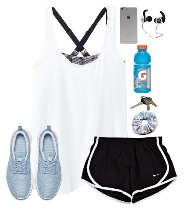 """Leaving for basketball practice"" by lydia-hh ❤ liked on Polyvore featuring Under Armour, Athleta, NIKE, Avon, Incase and Monster"