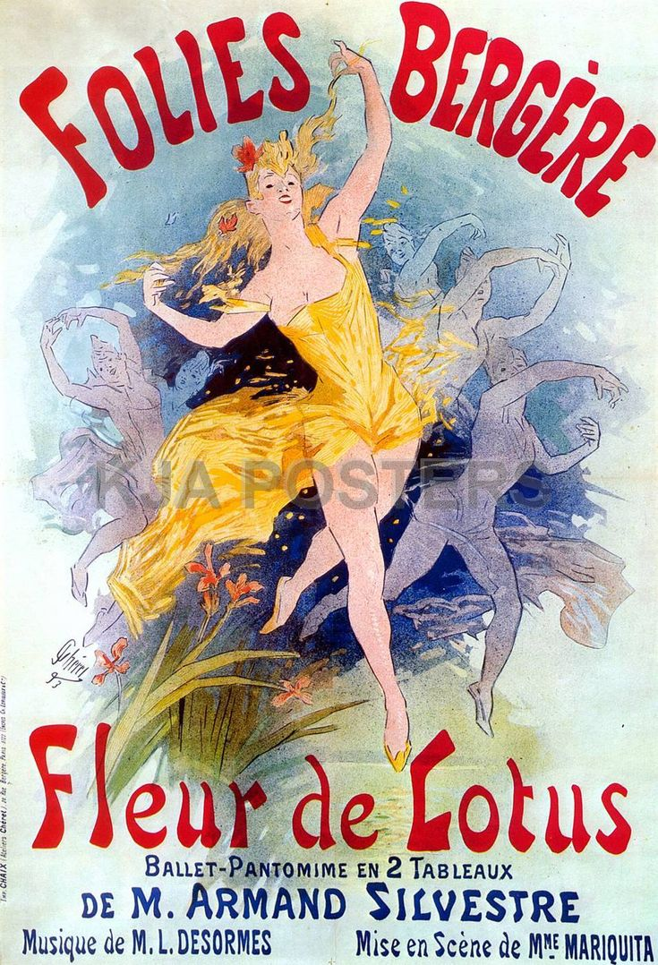 Jules Cheret  I love the older french posters..  the mod/art deco ones too
