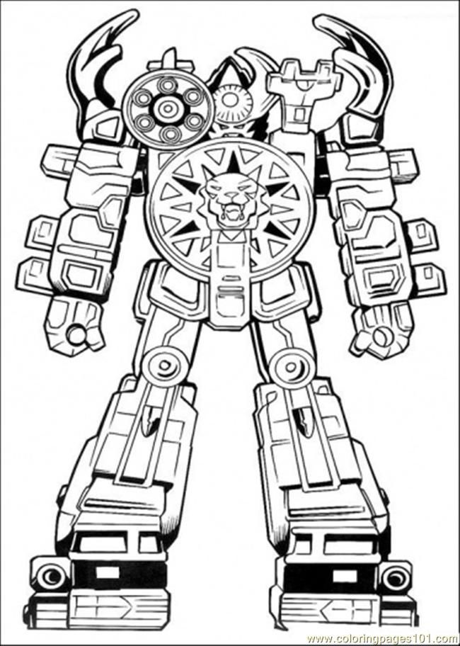 robot power ranger coloring page for boys