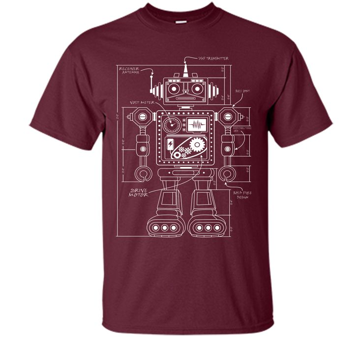 Admirable Vintage Robot Architect 2 2017 T Shirt