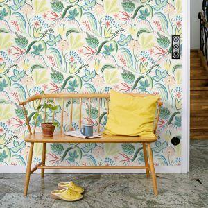 wallpaper Särö green, design Joy Zandén