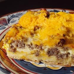 English Muffin Breakfast Strata-this sounds delicious! Making for my special guests!