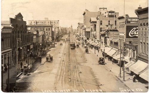 Jasper Avenue, Edmonton, AB, 1914