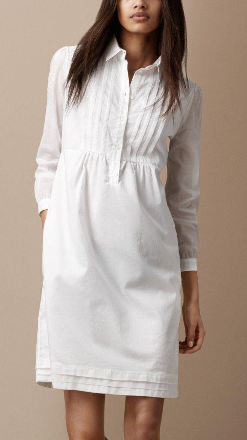 Burberry Brit cotton pin tuck shirt dress - love this dress!