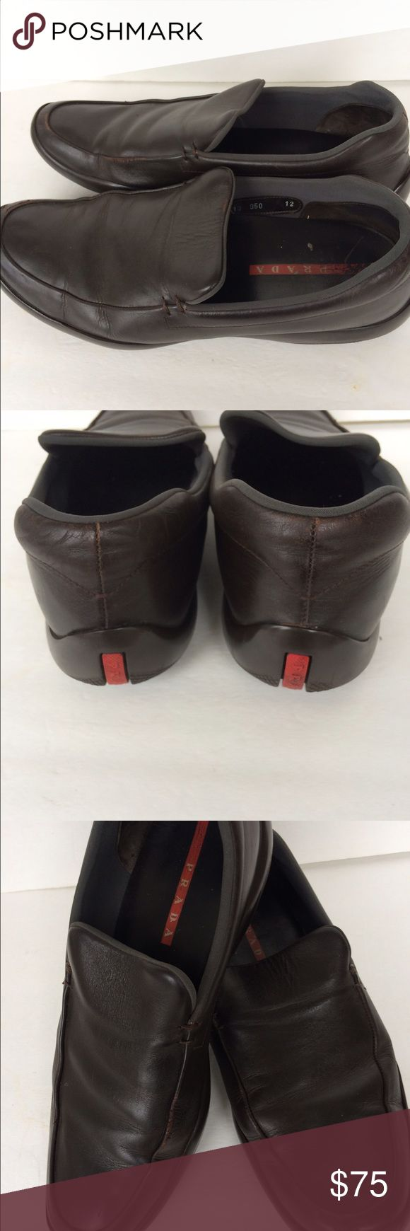 Men's Prada Loafers Prada leather loafers size 12 pre-owned. Prada Shoes Loafers & Slip-Ons