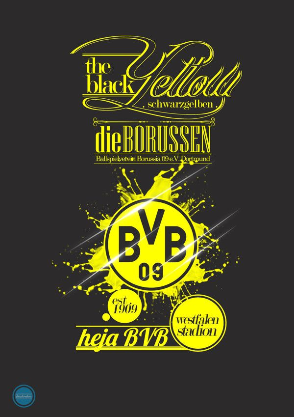 Football Team Typography: #Borussia #Dortmund #BVB ---- http://www.marco-reus-trikot.de