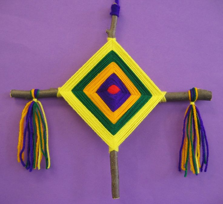 ojo de dios - used to make these all the time