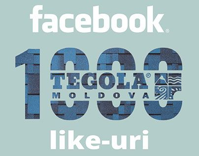 Tegola Moldova 1000 likes on facebook!