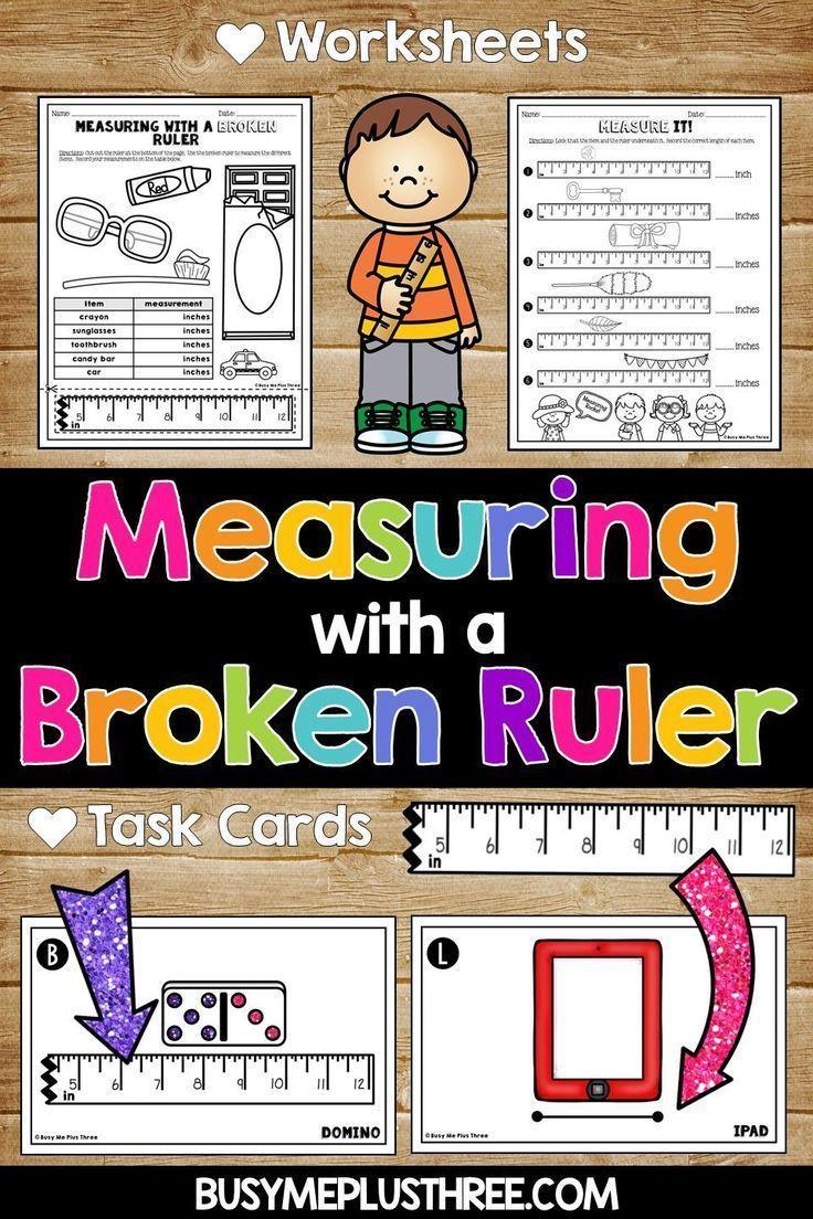 medium resolution of Measuring with a Broken Ruler Task Cards