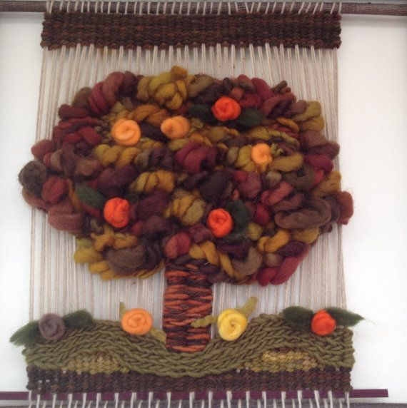 Woven Tree Wall Hanging by WovenHomeArt on Etsy, $200.00