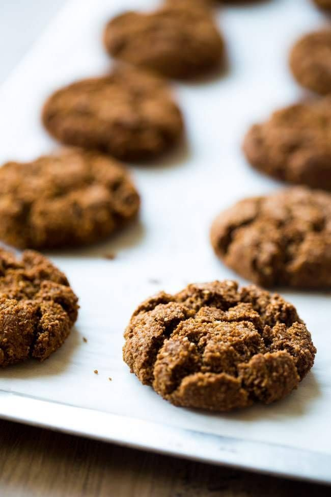 Paleo Gingersnaps - Completely butter free, gluten free and grain free, you will be amazed that these Christmas cookies taste better than Grandmas! Seriously, the best! | Foodfaithfitness.com | #recipe