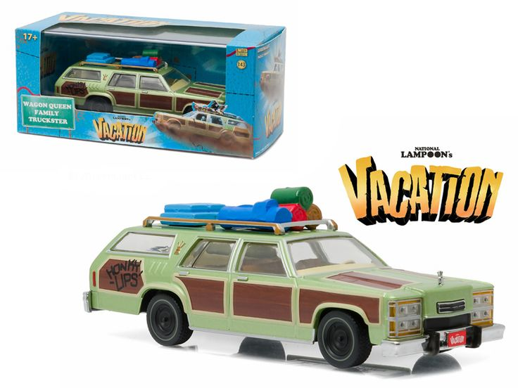 "1979 Family Truckster ""Wagon Queen"" Honky Lips Version ""National Lampoon's Vacation"" Movie (1983 ) 1/43 Diecast Model Car by Greenlight - Brand new 1:43 scale diecast car model of 1979 Family Truckster ""Wagon Queen"" Honky Lips Version ""National Lampoon's Vacation"" Movie (1983 ) die cast car model by Greenlight. Rubber tires. Brand new box. Limited Edition. Detailed interior, exterior. Comes in plastic display showcase. Dimensions approximately L-5 inches long.-Weight: 1. Height: 5. Width: 9…"
