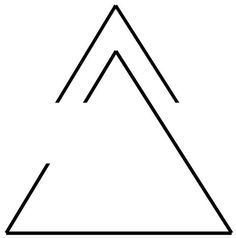 Arrow (moving forward, discovering new things) and open Delta (opennes to change)