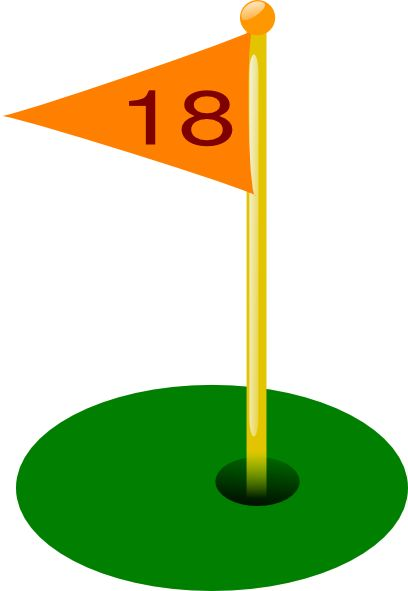 Golf Flag 18th Hole