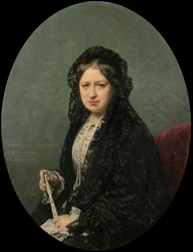 María Encarnación Cueto de Saavedra, Duchess of Rivas. 1878. Museo del Romanticismo, Madrid. Obra de Federico de Madrazo y Kuntz