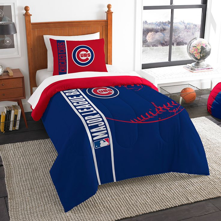 Chicago Cubs MLB Twin Comforter Set (Soft & Cozy) (64 x 86)