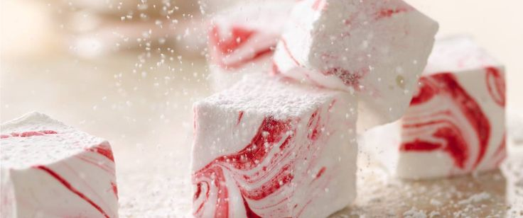 Enjoy these colorful marshmallow candies flavored with peppermint - perfect dessert to be served at your next party.
