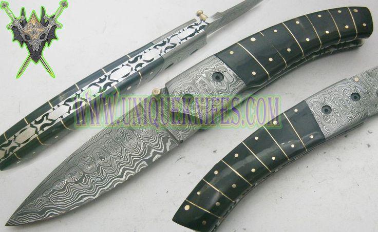 Один из рода! на заказ плечо работа красивая дамасская сталь складной нож uk-0007011f | Предметы для коллекций, Ножи, мечи и клинки, Коллекционные складные ножи | eBay!