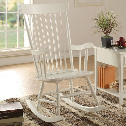 A&J Homes Studio Mia Rocking Chair  Perfect traditional rocking chair to sit back and relax.